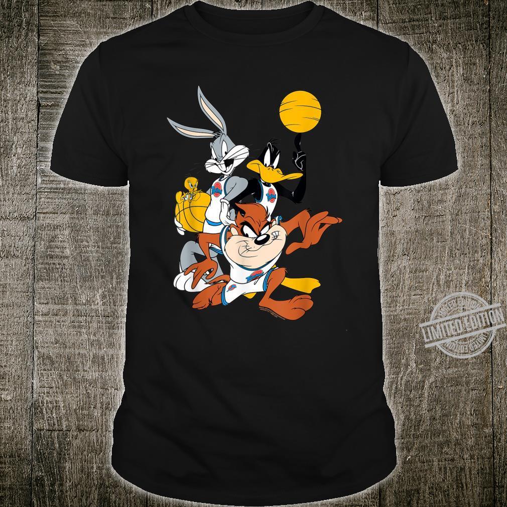BILSPJ00007 Space Jam Bugs and Daffy Group Shot Shirt