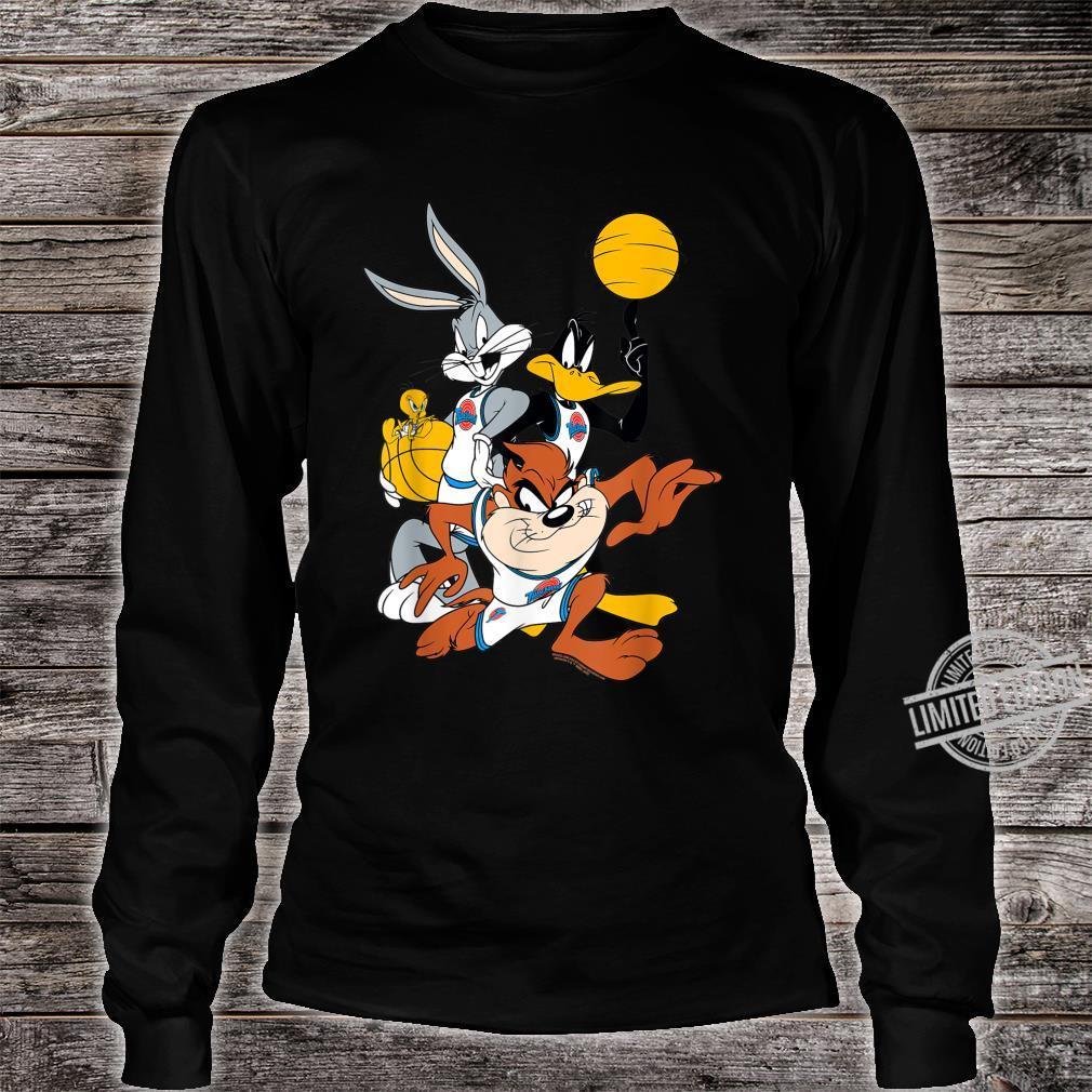 BILSPJ00007 Space Jam Bugs and Daffy Group Shot Shirt long sleeved