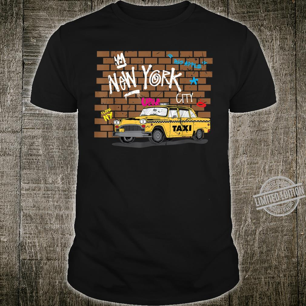 Big Apple New York NYC Yellow Taxi Cab Shirt