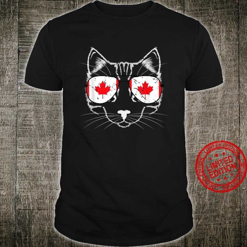Cool Canadian Cat Canada Shirt