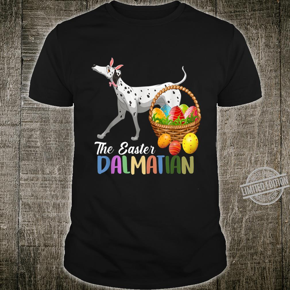 Dalmatian Easter Day Costume Love Egg And Bunny Ears Shirt