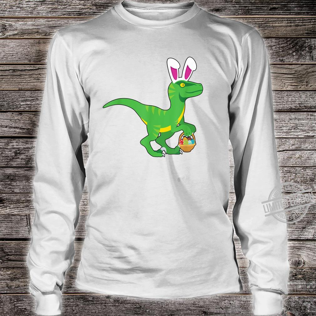 Easter Velociraptor Shirt long sleeved