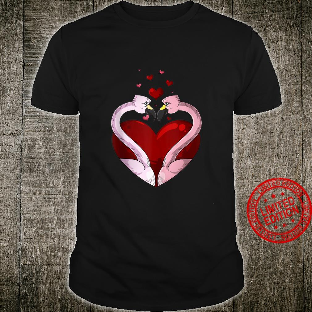 Flamingos In Love Valentine's Day Birds Shirt