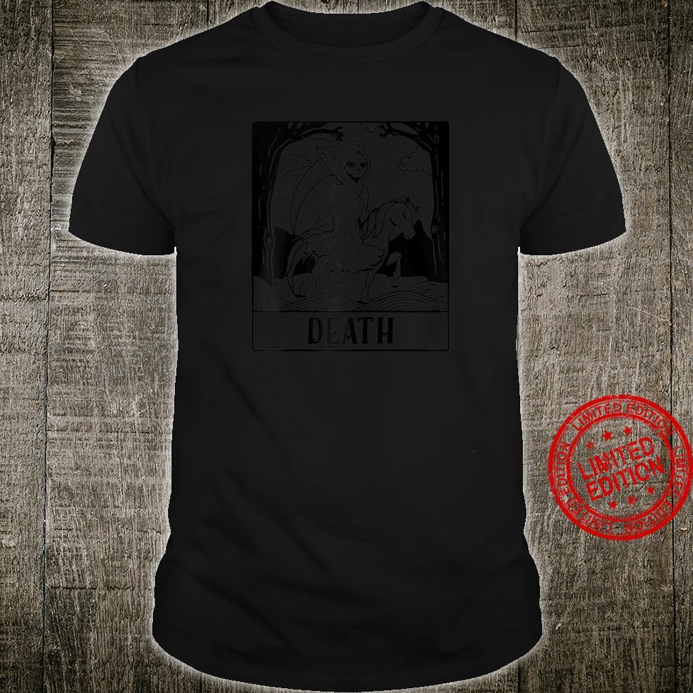 Grim Reaper Horse Skeleton Tarot Card Blackcraft Shirt