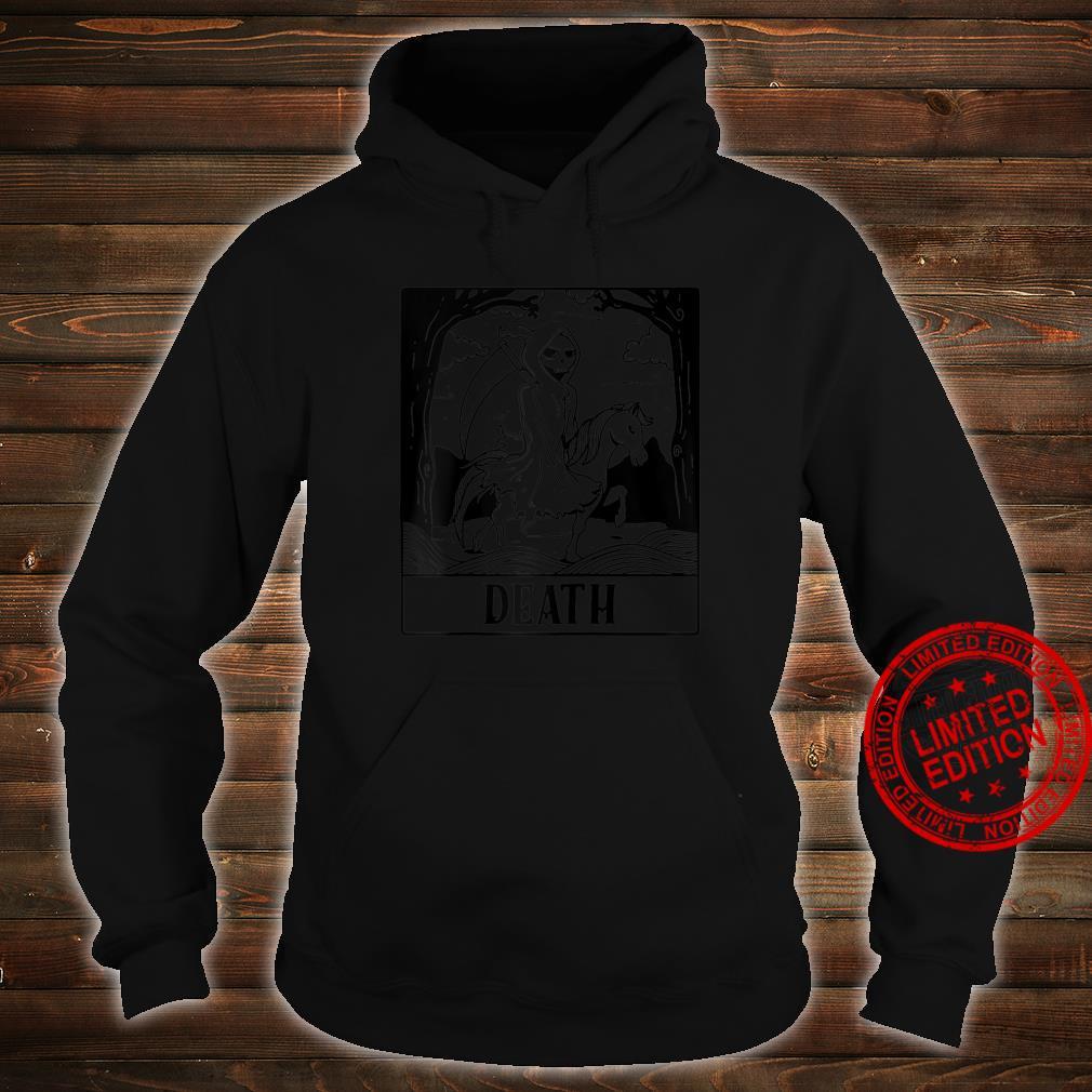 Grim Reaper Horse Skeleton Tarot Card Blackcraft Shirt hoodie