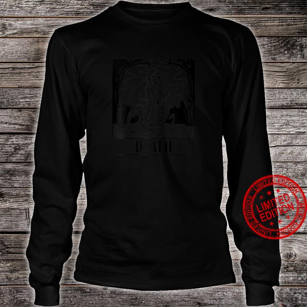 Grim Reaper Horse Skeleton Tarot Card Blackcraft Shirt long sleeved