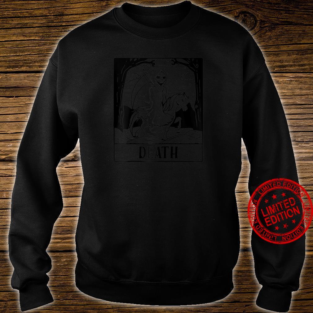 Grim Reaper Horse Skeleton Tarot Card Blackcraft Shirt sweater