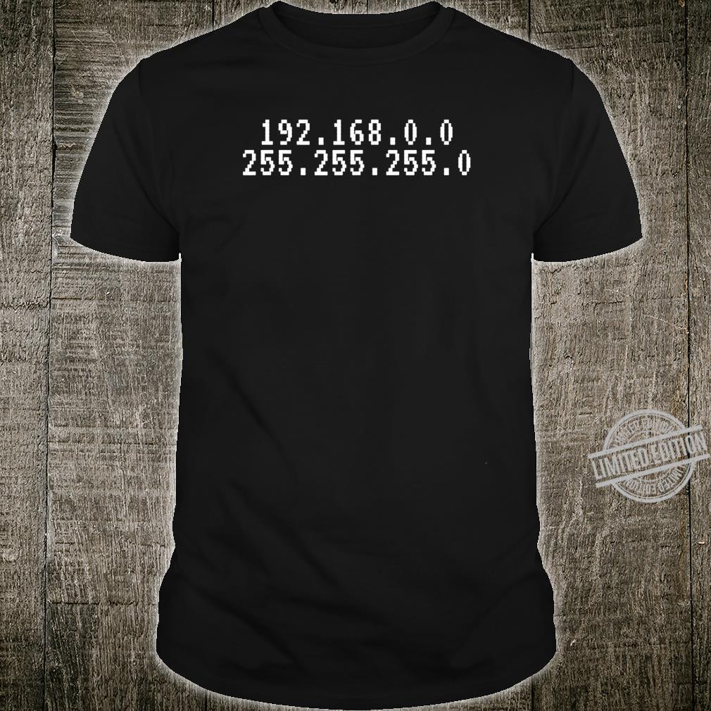 Herren Lustige LAN Party 192.168.0.0 255.255.255.0 IP PC Nerd Motiv Shirt