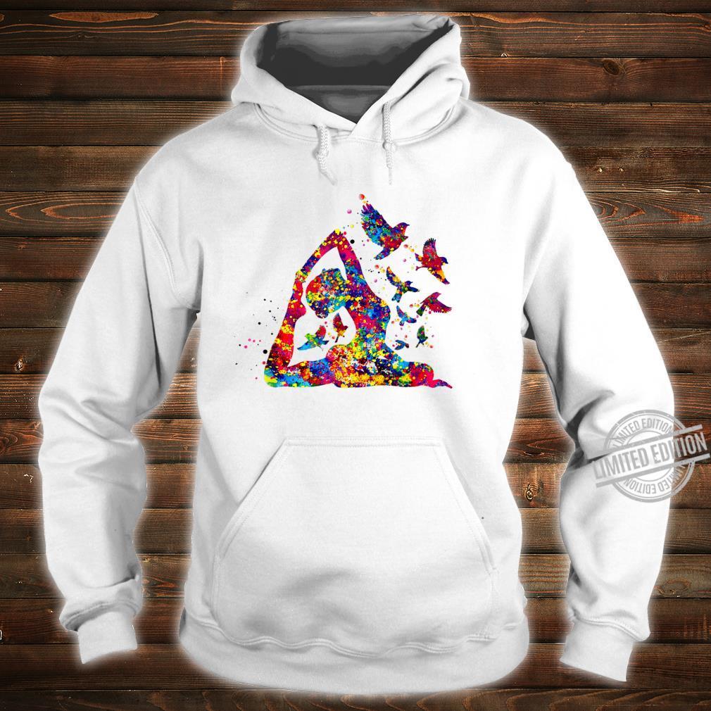Hummingbird and yoga skill art colorful Shirt hoodie
