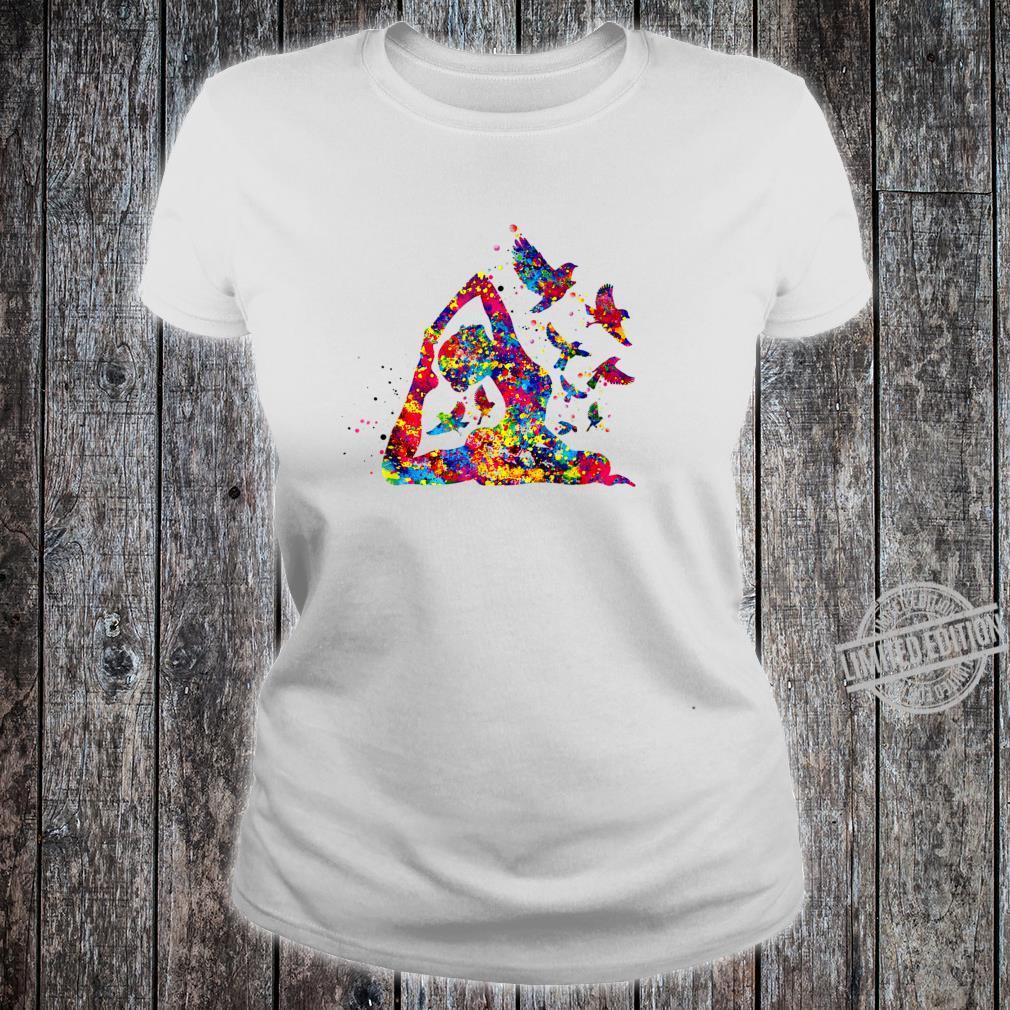 Hummingbird and yoga skill art colorful Shirt ladies tee