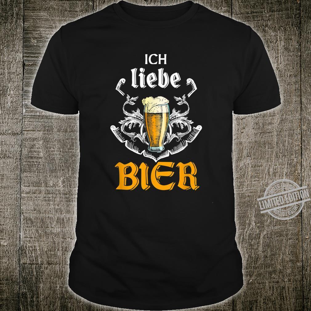 Ich liebe Bier Vintage Bierglass und Biertrinker Shirt