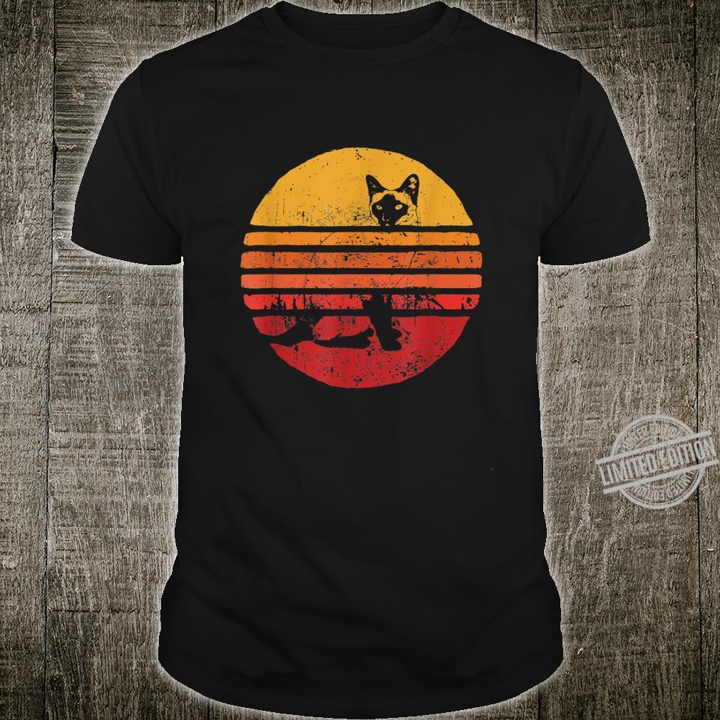 Katze Sunset 80er 90er Jahrgang Geschenk Shirt