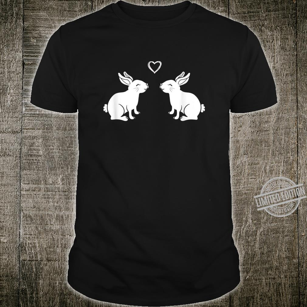 Kissing Bunnies Heart Rabbit Bunny Kiss Shirt