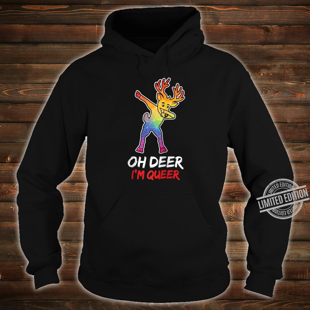 LGBT Dabbing Oh Deer I'm Queer For Proud & Lesbians Shirt hoodie