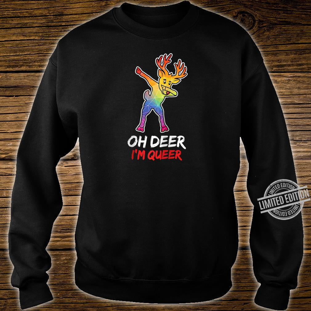 LGBT Dabbing Oh Deer I'm Queer For Proud & Lesbians Shirt sweater