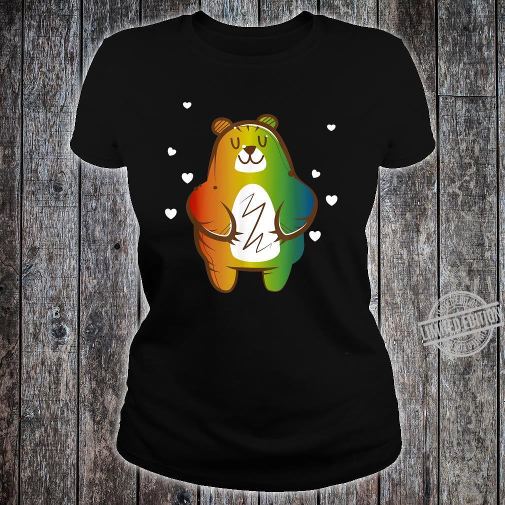 LGBT Homosexuell Regenbogen Bär Shirt ladies tee