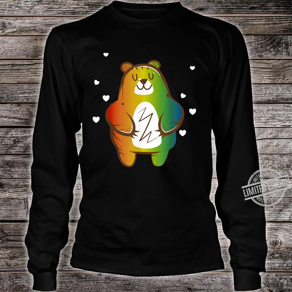 LGBT Homosexuell Regenbogen Bär Shirt long sleeved