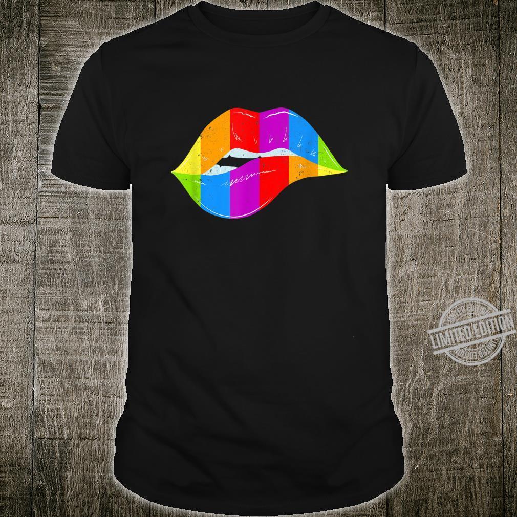 LGBT Rainbow Shirt Lips Pride Gay, Homosexual, Lesbian Shirt