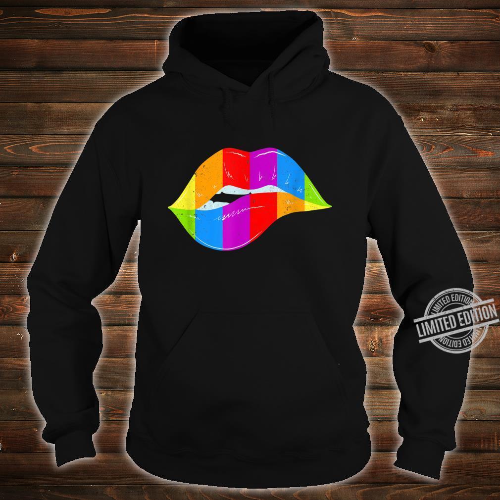 LGBT Rainbow Shirt Lips Pride Gay, Homosexual, Lesbian Shirt hoodie