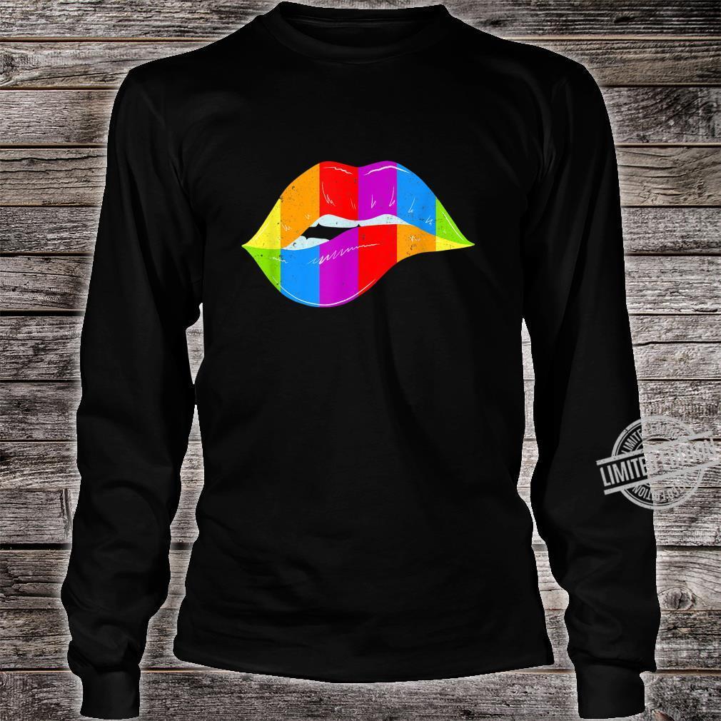 LGBT Rainbow Shirt Lips Pride Gay, Homosexual, Lesbian Shirt long sleeved