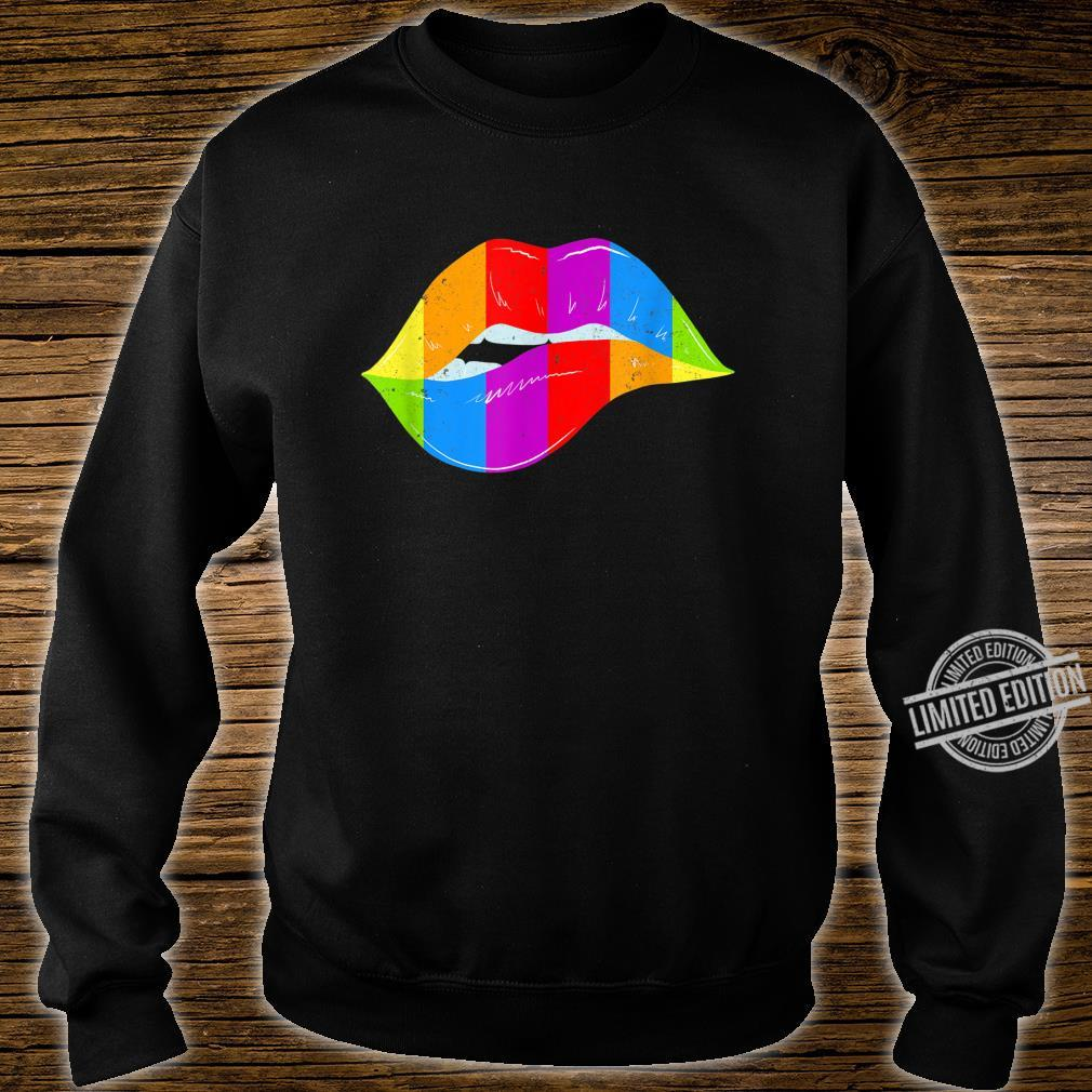 LGBT Rainbow Shirt Lips Pride Gay, Homosexual, Lesbian Shirt sweater