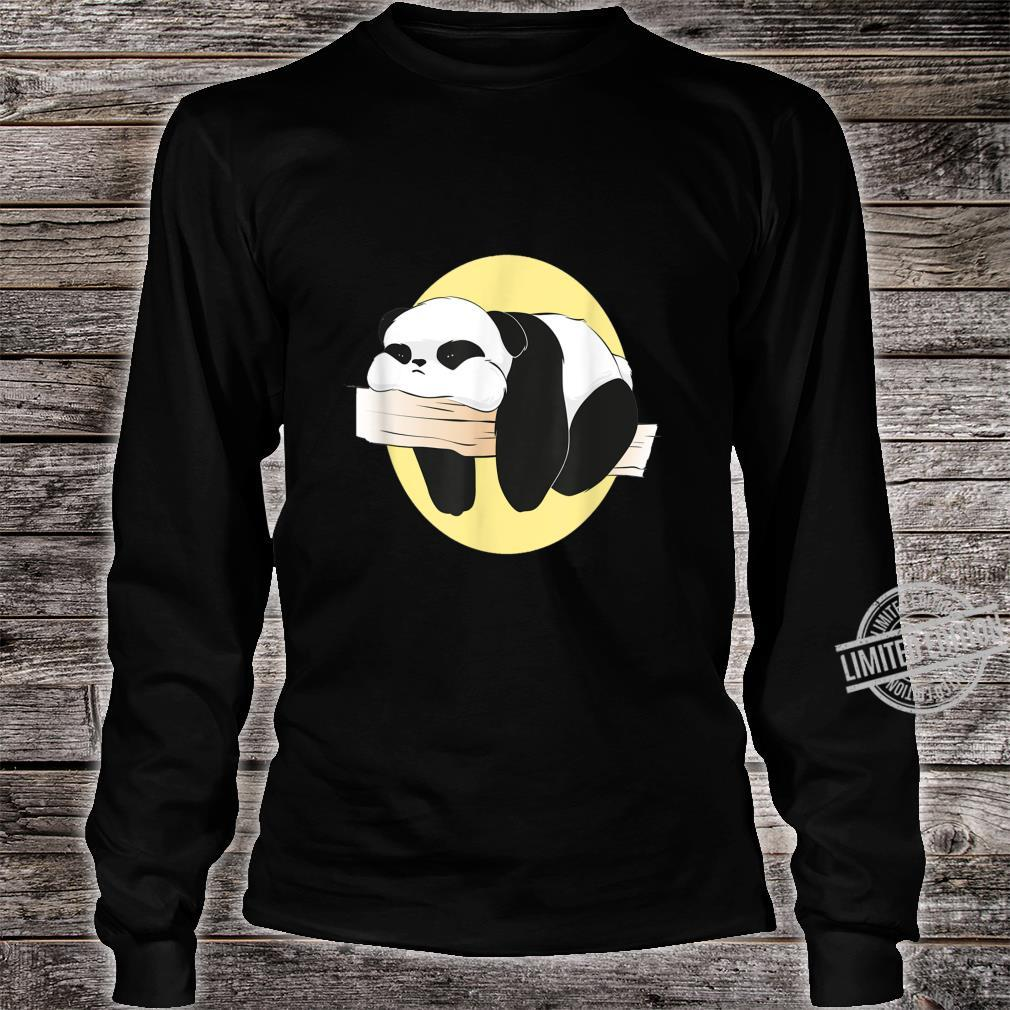 Langweilige süße langweilige Panda Frauen Männer Geschenke Shirt long sleeved