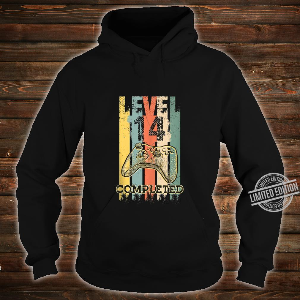 Level 14 Completed Video Gamer 14 Years Old Birthday Shirt hoodie
