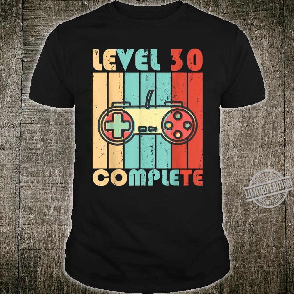 Level 30 Complete Video Game Controller Shirt