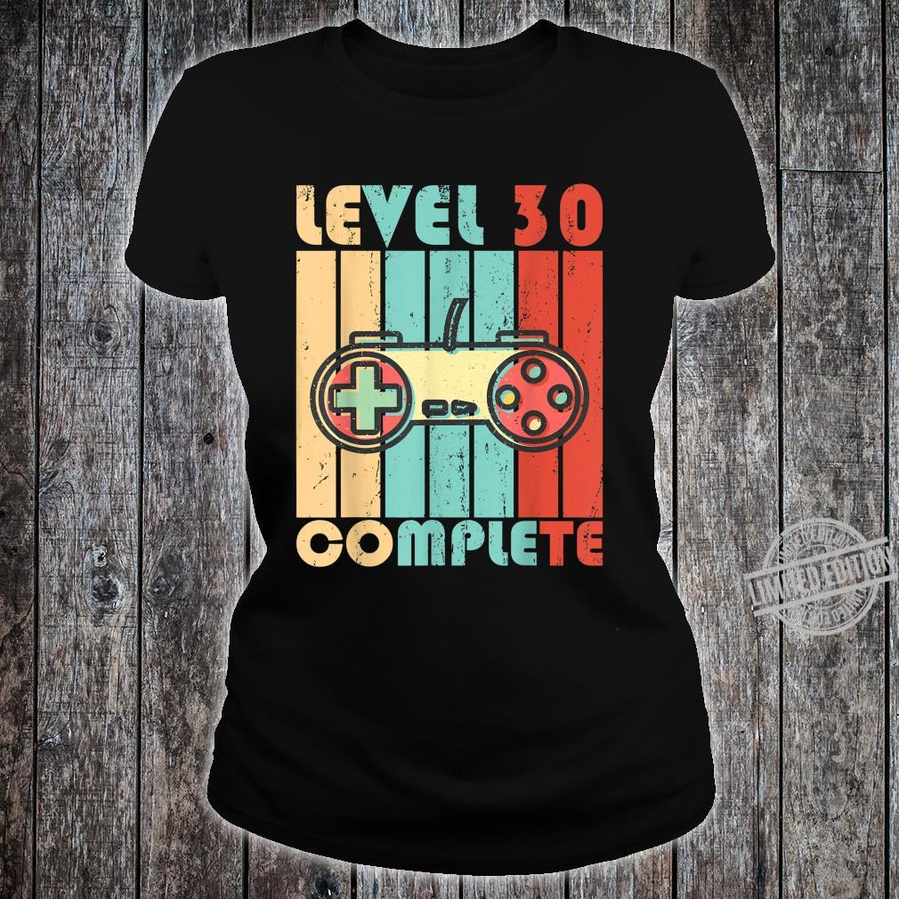 Level 30 Complete Video Game Controller Shirt ladies tee