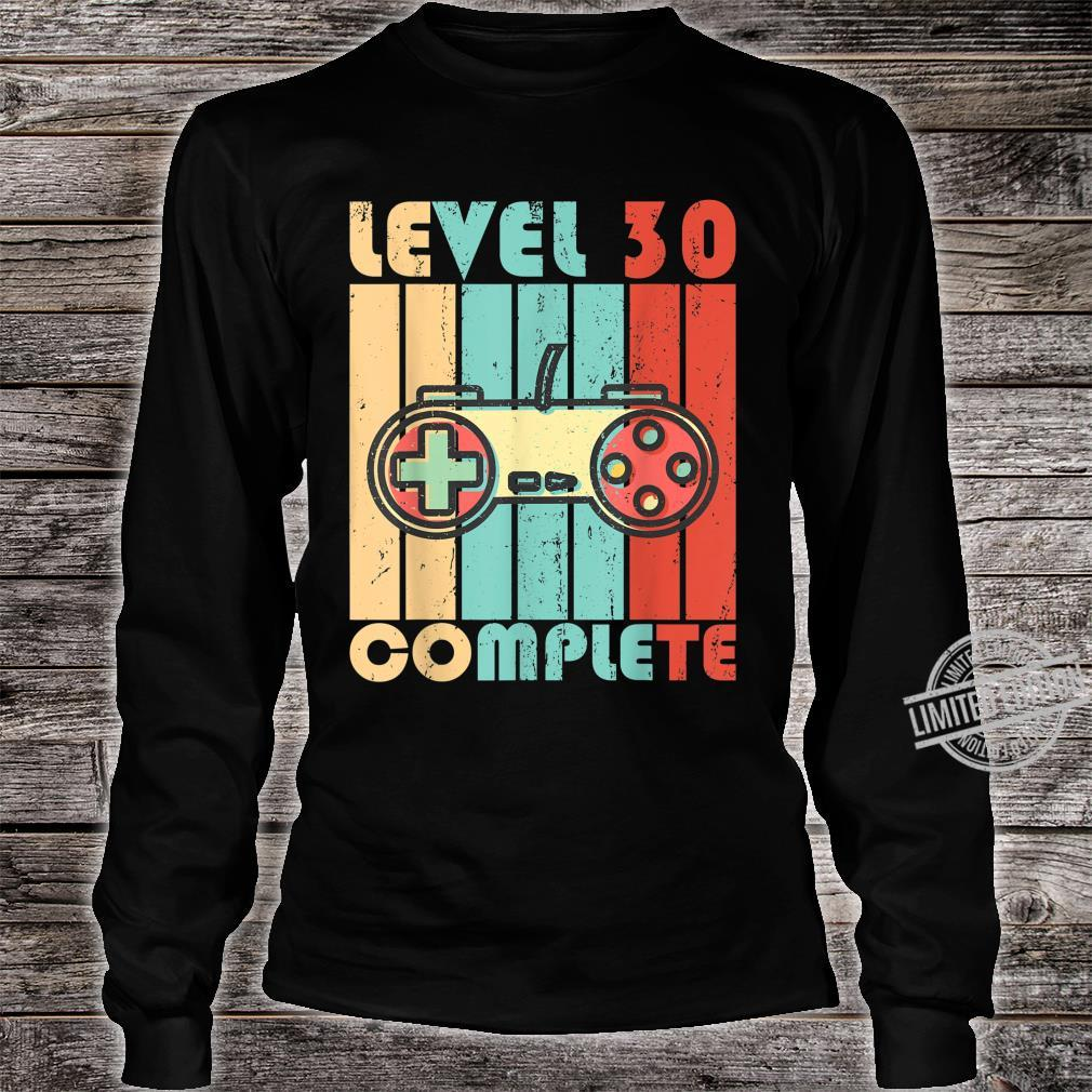 Level 30 Complete Video Game Controller Shirt long sleeved