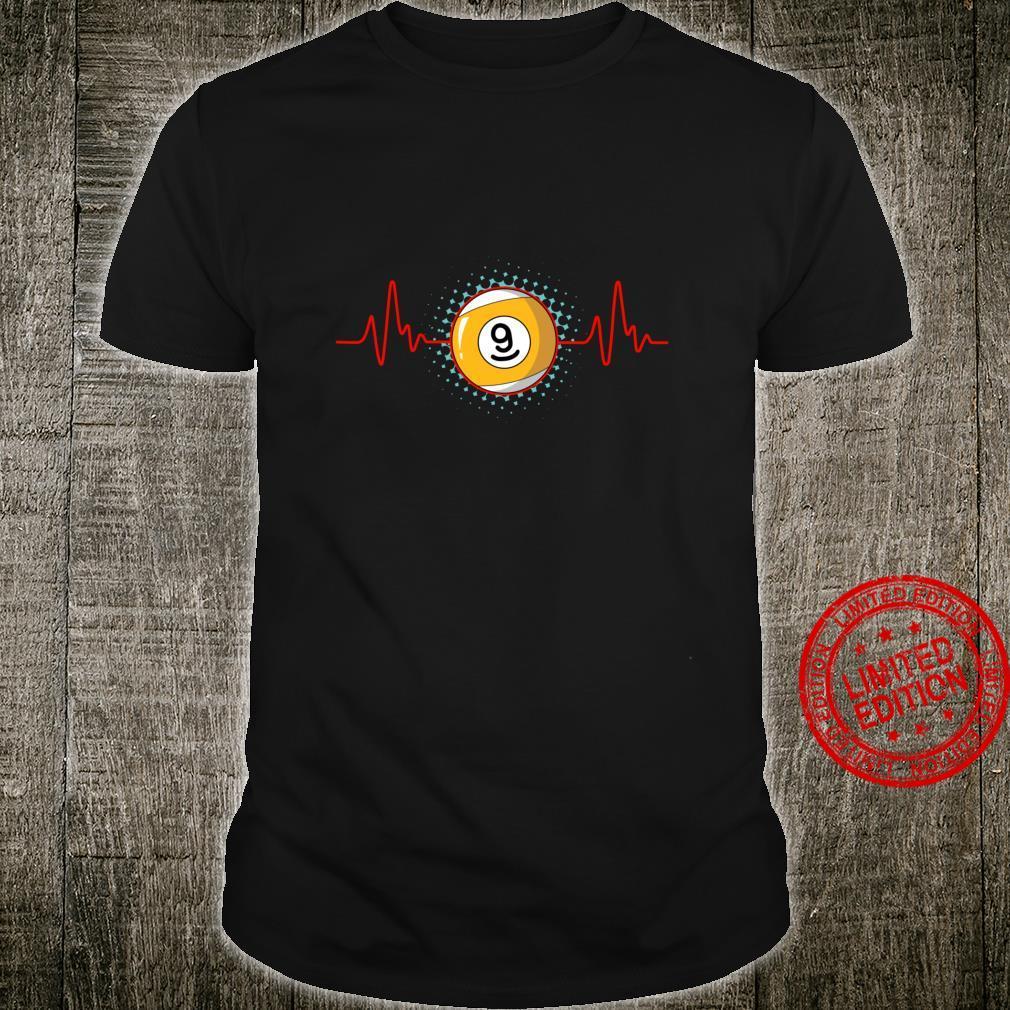 Pool Player Billiard Pool Table Heartbeat Shirt