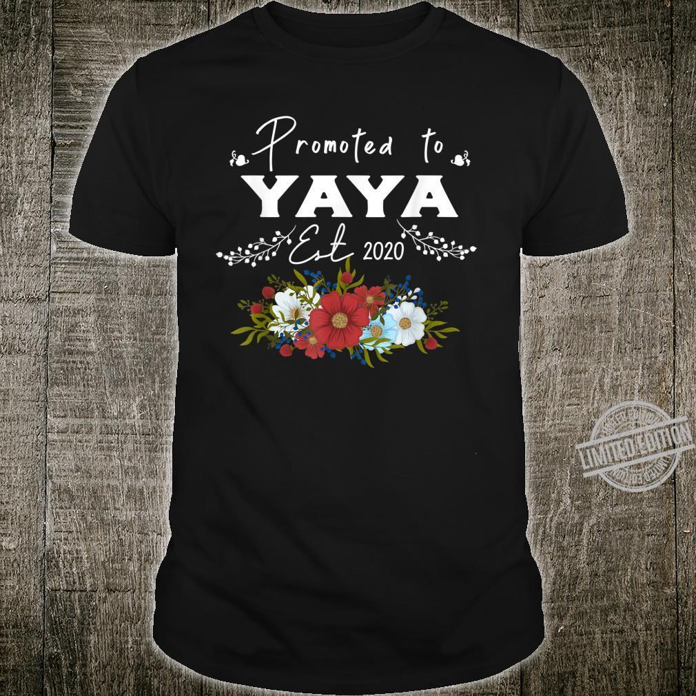 Promoted to Yaya Est 2020 Mothers Day Shirt