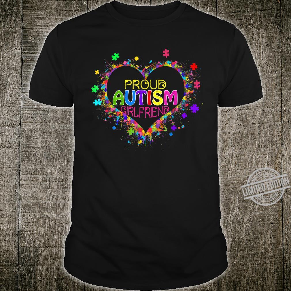 Proud Girlfriend Autism Awareness Family Matching Shirt