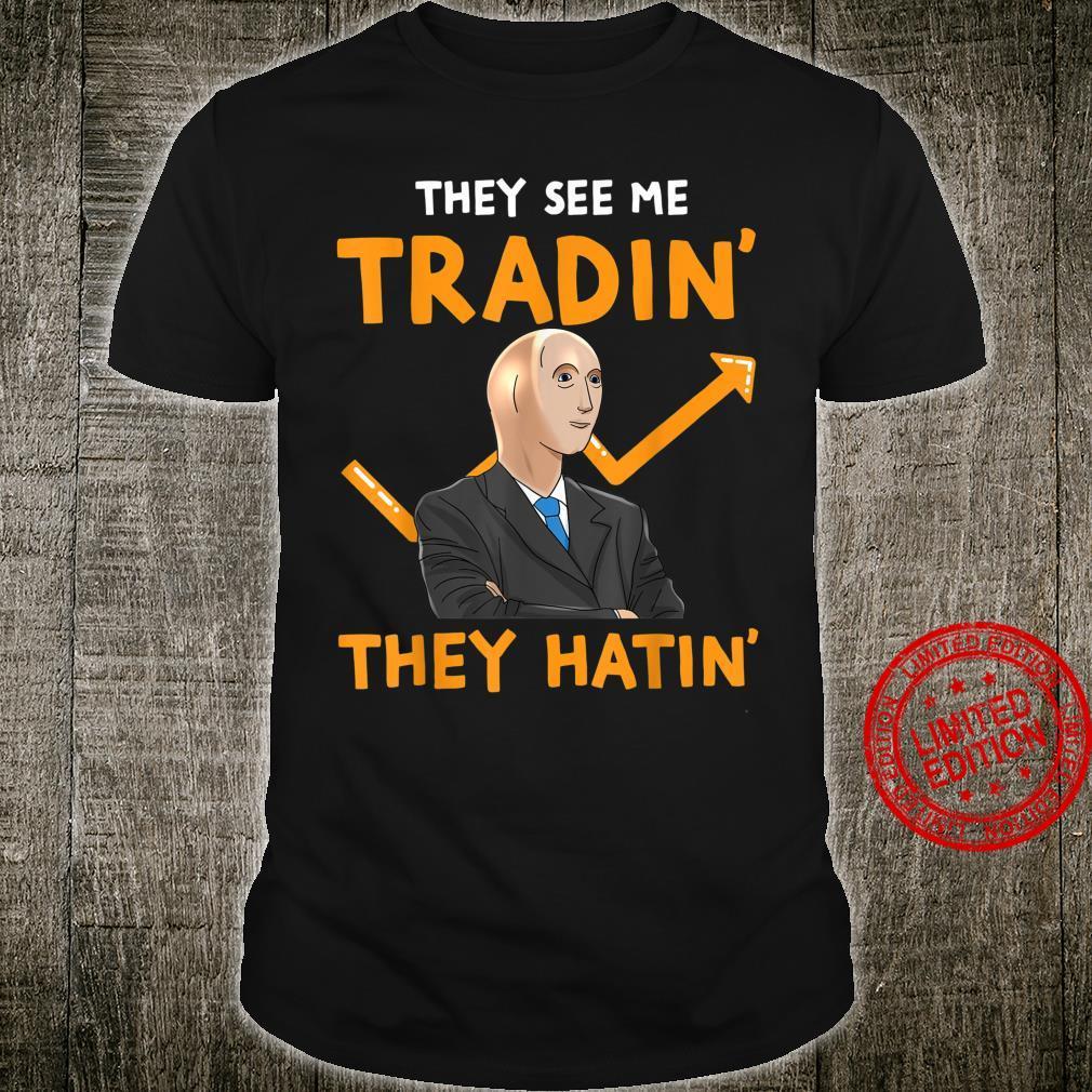 Stonks Guy Meme Forex Trader Day Trader Dank Meme Shirt