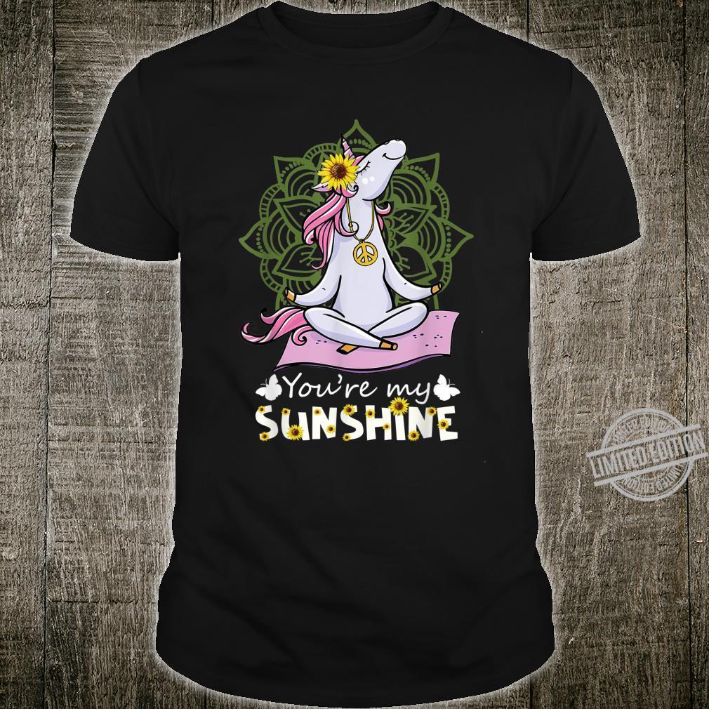 Unicorn Namaste Yoga You My Sunshine Shirt
