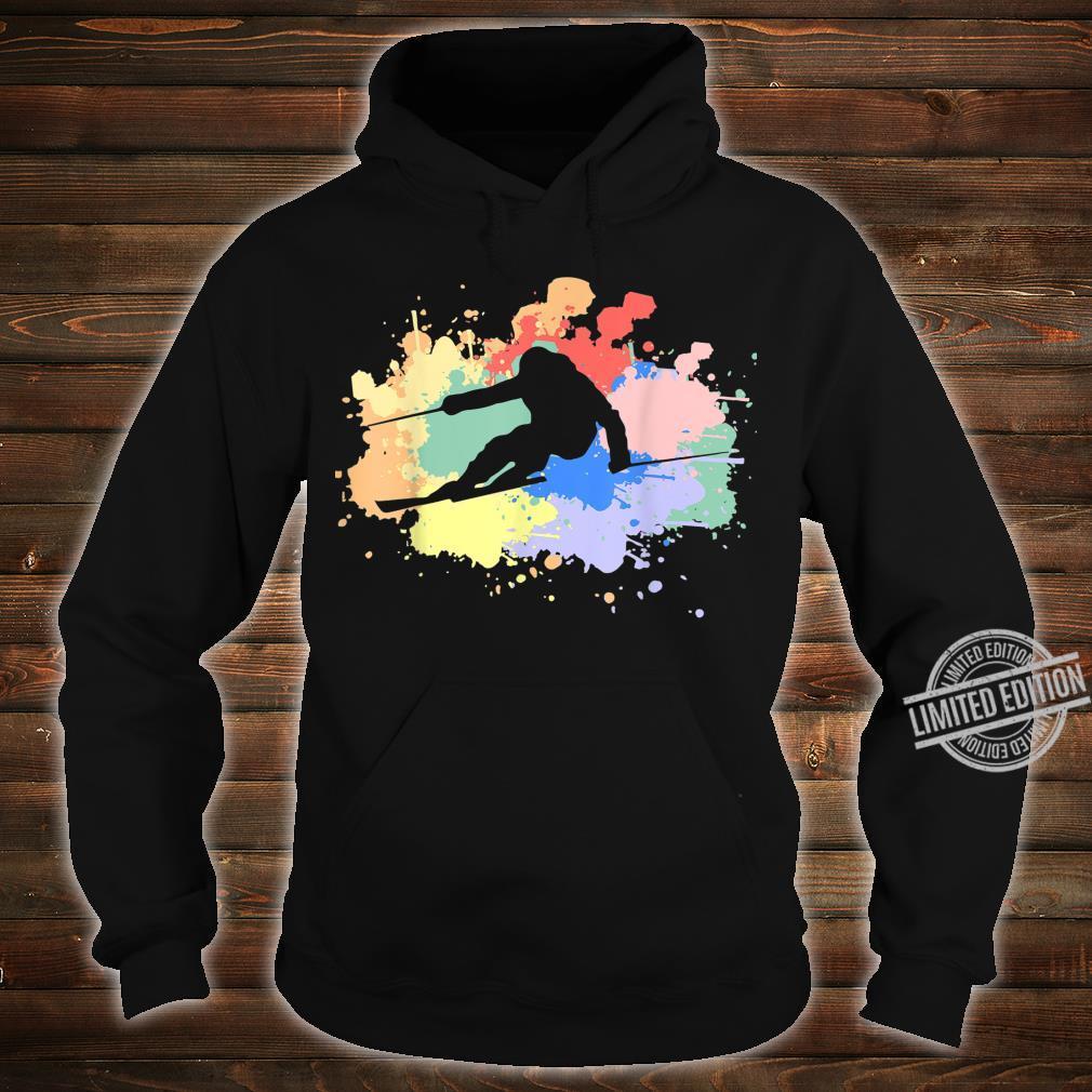 Vintage Retro Skifahrer Ski Fahren Ski Fahrer Silhouette Shirt hoodie