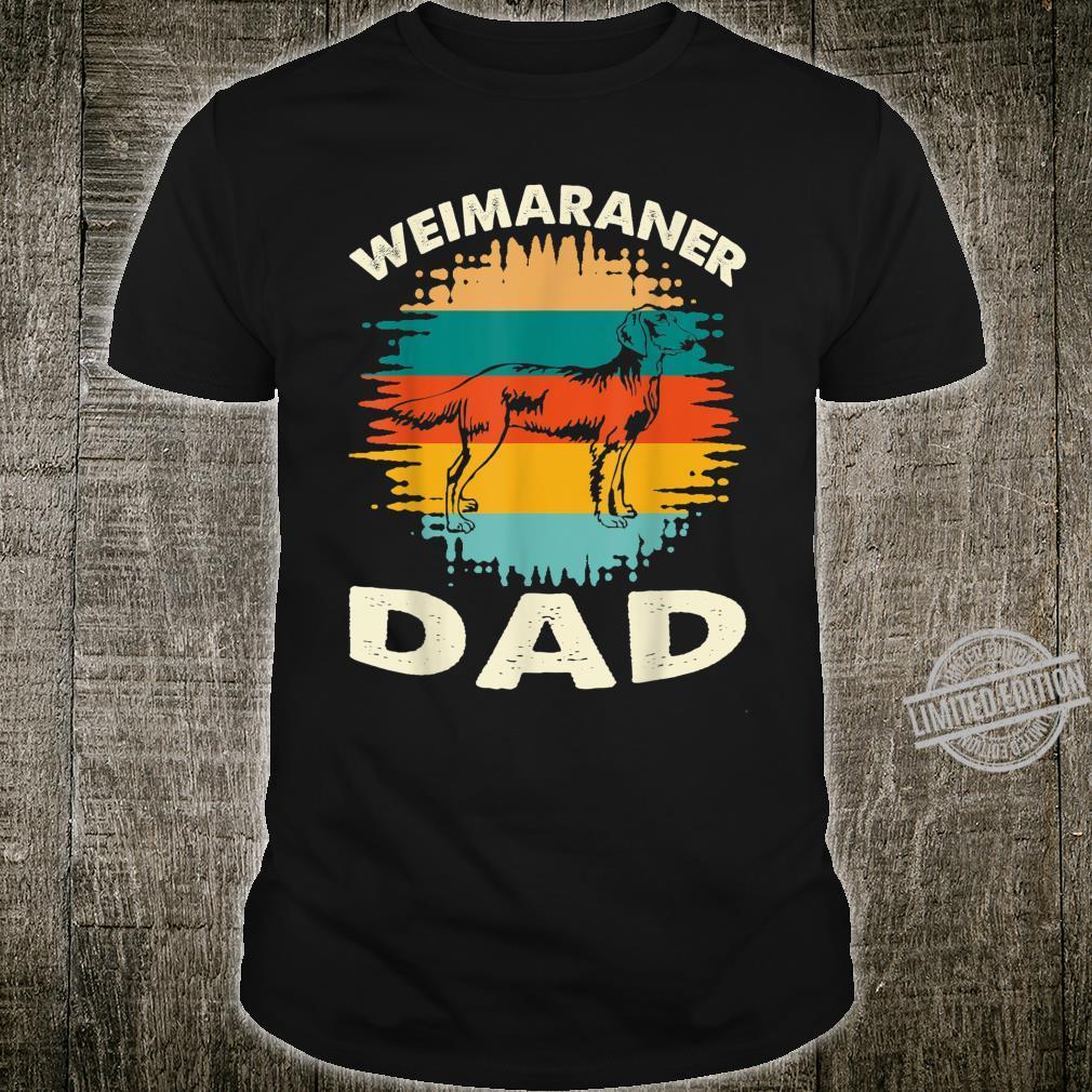 Vintage retro sunset silhouette Dog Weimaraner Dad father Shirt